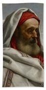 Eliezer Of Damascus Beach Towel by William Dyce