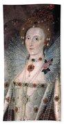 Elizabeth I Of England Beach Towel