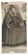 Elizabeth, Queen Of England, C.1603 Beach Towel