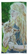 Elizabeth South And Ginger Beach Towel