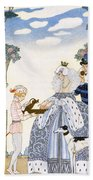 Elizabethan England Beach Towel by Georges Barbier