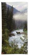 Elk Crossing Beach Towel