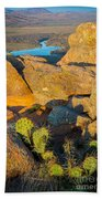 Elk Mountain Sunset Beach Towel