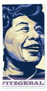 Ella Fitzgerald Portrait Beach Towel