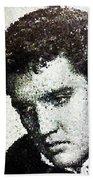 Elvis Love Me Tender Mosaic Beach Towel