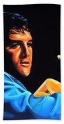 Elvis Presley 2 Painting Beach Towel