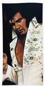 Elvis Presley Painting Beach Towel