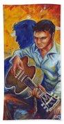 Elvis Presley- Shadow Duet Beach Towel