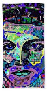 Elvis The King Abstract Beach Towel