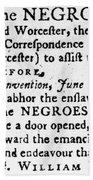 Emancipation Notice, 1775 Beach Towel