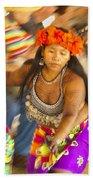 Embera Villagers In Panama Beach Towel