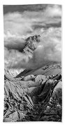 Embraced By Clouds Black And White Beach Towel