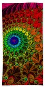 Embroidered Silk And Beads - Horizontal Beach Towel