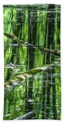 Emerald Reflections Beach Towel