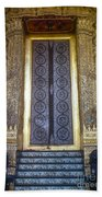 Emerald Buddha Temple Door Beach Towel