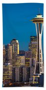 Emerald City Evening Beach Towel