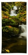 Emerald Falls In Columbia River Gorge Oregon Usa Beach Towel