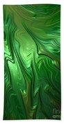 Emerald Flow Beach Towel