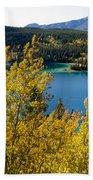 Emerald Lake At Carcross Yukon Territory Canada Beach Towel