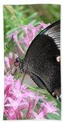 Emerald Peacock Swallowtail Butterfly #5 Beach Towel
