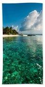 Emerald Purity. Kuramathi Resort. Maldives Beach Towel