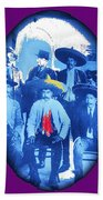 Emiliano Zapata In Group Portrait Xochimilco  Outside Of Mexico City 1914-2013 Beach Towel
