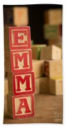 Emma - Alphabet Blocks Beach Towel