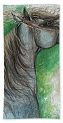 Emon Polish Arabian Horse 1 Beach Towel