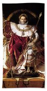 Emperor Napoleon I On His Imperial Throne Beach Towel