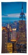Empire State Blue Night Beach Towel
