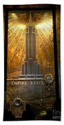 Empire State Building - Magnificent Lobby Beach Towel