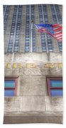 Empire State Building Beach Towel
