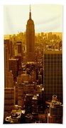 Manhattan And Empire State Building Beach Towel