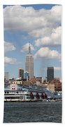 Empire State From The Water Beach Towel