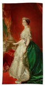 Empress Eugenie Of France 1826-1920 Wife Of Napoleon Bonaparte IIi 1808-73 Oil On Canvas Beach Towel