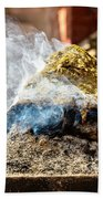 Encens Burning Beach Towel