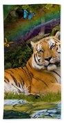 Enchaned Tigress Beach Towel
