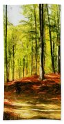 Enchanted Forest - Drawing  Beach Towel