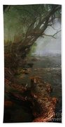Enchanted River In The Mist Beach Towel