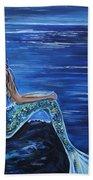 Enchanting Mermaid Beach Towel by Leslie Allen