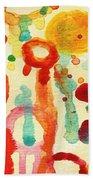 Encounters 1 Beach Towel by Amy Vangsgard