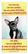 End The Puppy Mills Beach Towel