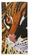 Endangered - Ocelot Beach Towel
