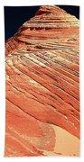 Endless Lines In Sandstone Beach Towel