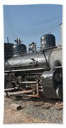 Engine 40 In The Colorado Railroad Museum Beach Towel