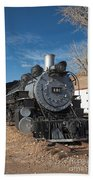 Engine 491 In The Colorado Railroad Museum Beach Towel
