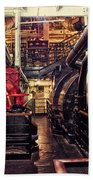 Engine Room Queen Mary 02 Beach Towel