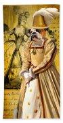 English Bulldog Art Canvas Print  Beach Towel