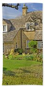 English Cottage Beach Towel
