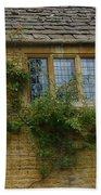 English Cottage Window Beach Towel